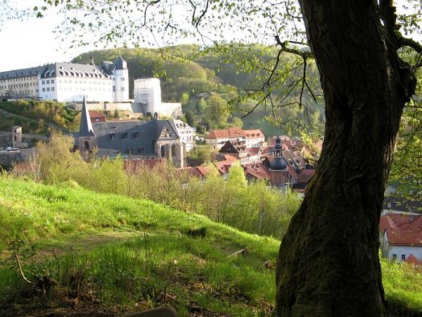 Blick auf das Stolberger Schloss vom unteren Bandweg