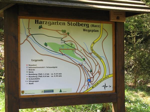 Übersichtskarte Harzgarten in Stolberg Harz
