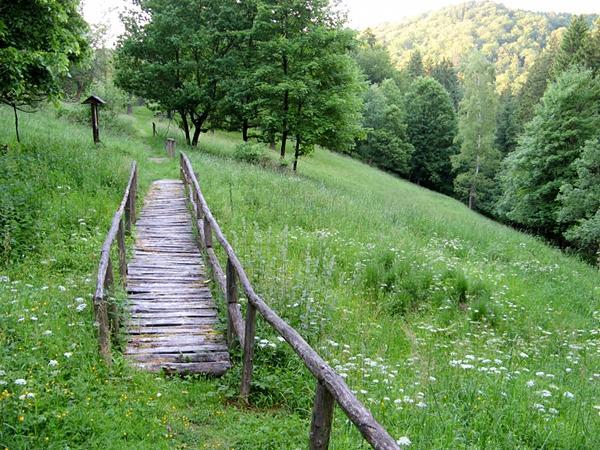 romatnische Wege mit vielen Inforamtionen führen durch den Harzgarten
