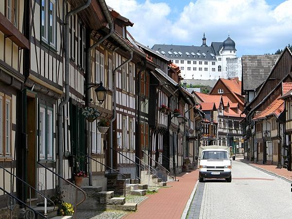 Blick auf das Stolberger Schloss