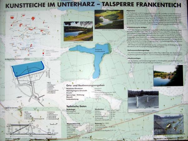 Erläuterungstafel zum Frankenteich am Staudamm