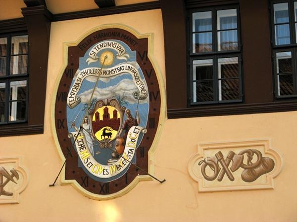 Rathaus Stolberg Sonnenuhr