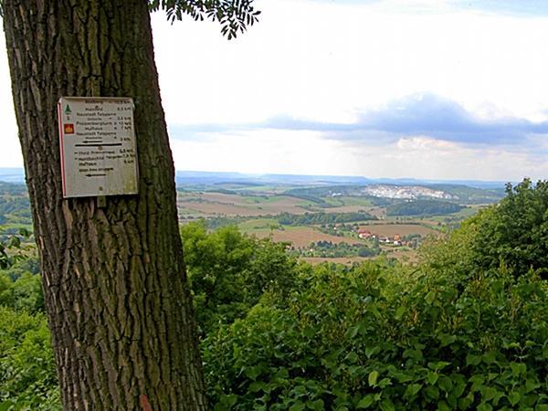 Blick von der Burgruine Hohnstein