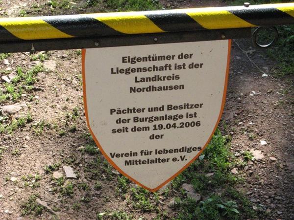Türschild der Ebersburg