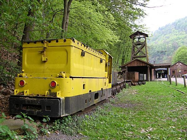 Eingang des Besucherbergwerks Rabensteiner Stollen