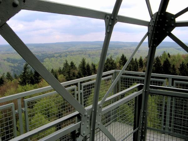 Blick vom Poppenturm über den Harz