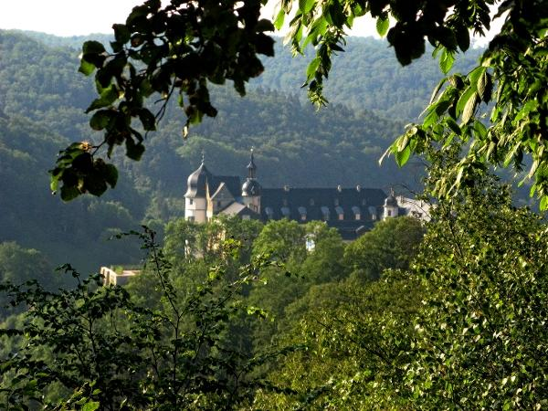 Blick vom Kantenweg zum Stolberger Schloss