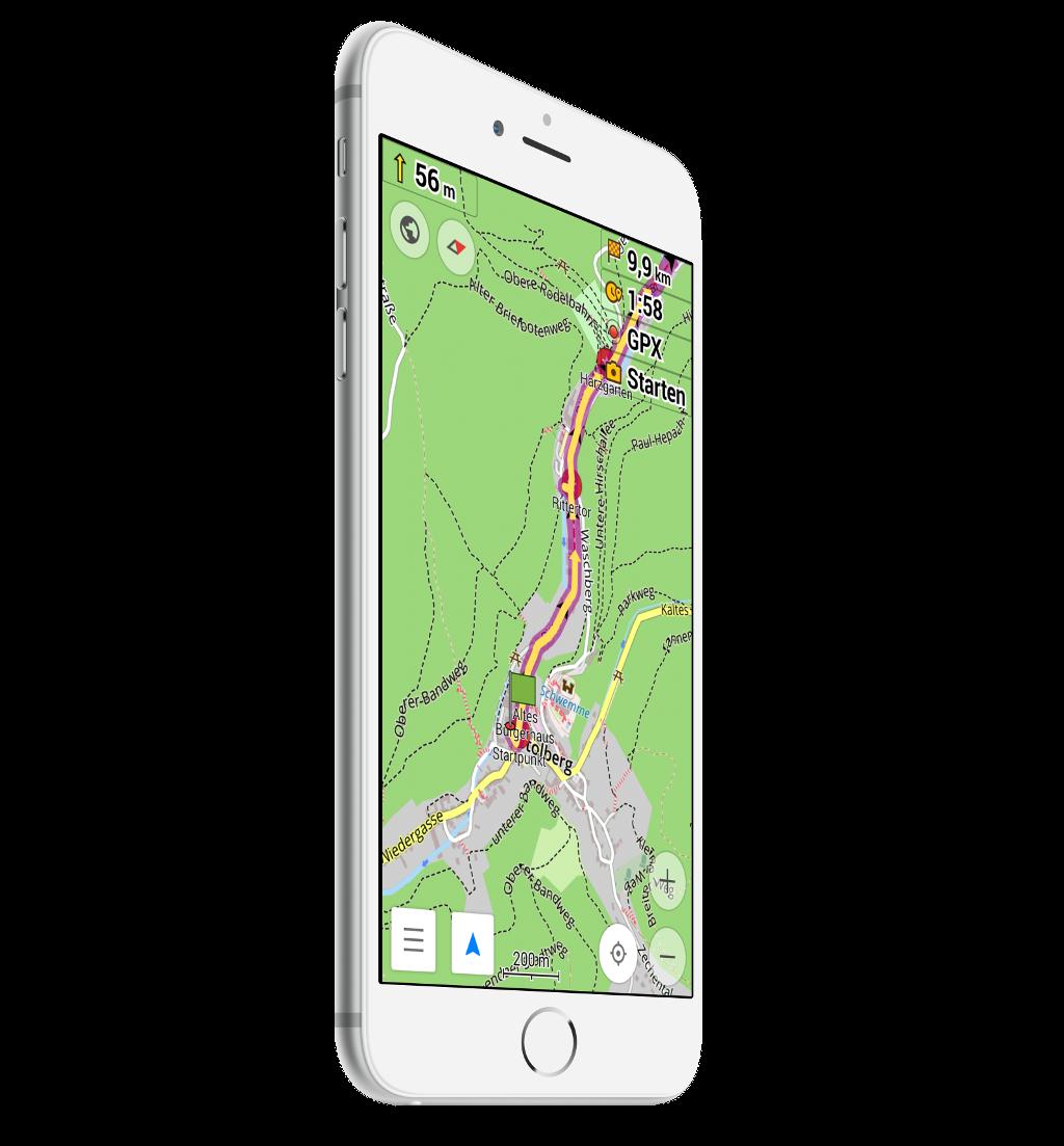 Wandern mit Smartphone